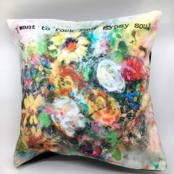 burst of blooms pillow